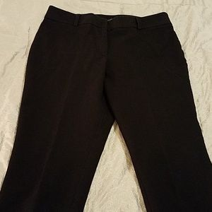 Ann Taylor Black Curvy Fit Trousers Size 8